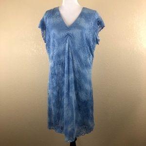 Fashion Bug Blue Lace Dress